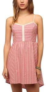 Urban Outfitters short dress PINK Summer Cope High Low Linen Worn On Tv on Tradesy