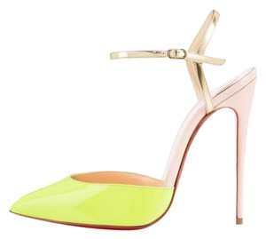 Christian Louboutin Rivierina Neon Patent neon nude Pumps