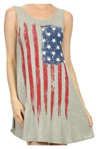 short dress Gray, red, white, and blue 4th Of July Patriotic on Tradesy