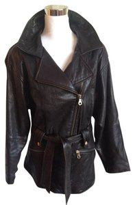 Andrew Marc Moto Perfecto Leather Long Motorcycle Leather Jacket