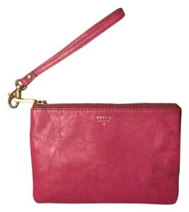 Fossil Wristlet in Hot Pink
