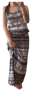 White & Brown Maxi Dress by 7 For All Mankind