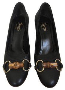 Gucci Bamboo Leather Black Pumps