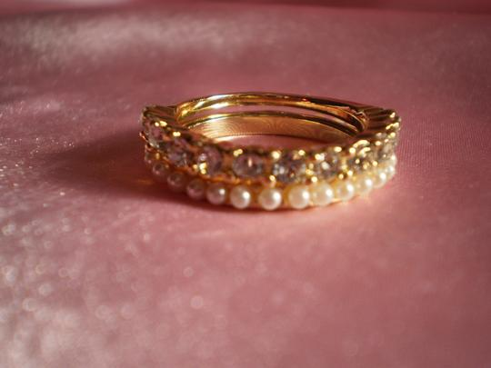 Other New Austrian Crystals, Faux Pearls on Goldtone (size 8)