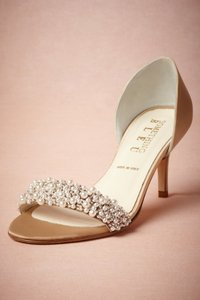 Something Bleu Bridal Champagne Oyster Bed D Orsays Pumps