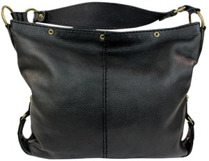 Lucky Brand Pebbled Leather Tote in Black