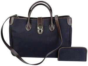 Dooney & Bourke Canvas Leather Tote in Blue