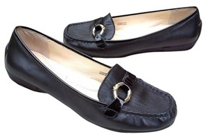 Tahari Driving Moc Loafer Comfortable Classic Black Flats