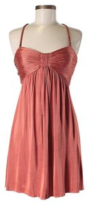 BCBGMAXAZRIA Empire Waist Halter Dress