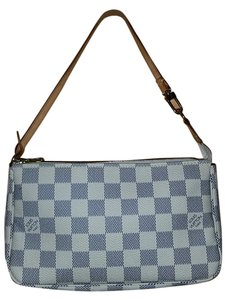 Louis Vuitton Pochette Wristlet in Damier Azur