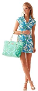 Lilly Pulitzer short dress Resort White Sweet And Sour Cut-out Polo Rayna on Tradesy