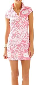 Lilly Pulitzer short dress Resort White Get Spotted Cut-out Polo Shirt Rayna on Tradesy