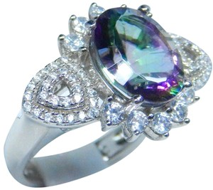 Other Lovely Oval Shape Mystic Quartz Sterling Silver Ring