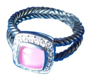 David Yurman David Yurman Petite Albion Ring with Pink Quartz & Diamonds