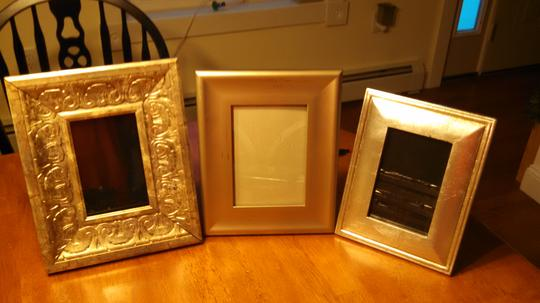 Silver 3 Assorted Picture Frames Centerpiece