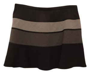 BCBGMAXAZRIA Mini Skirt Black and Grey Stripe