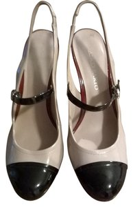 Franco Sarto Nude w/ Red and Black Accents Pumps