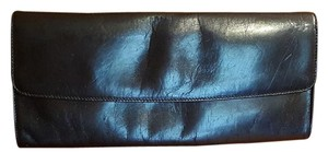 HOBO INTERNATATIONAL Hand Made Leathr Vintage BLACK Clutch