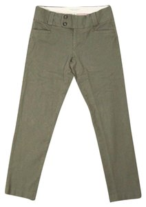 Banana Republic Military Green Sloan Fit Crop Green Capris Capri/Cropped Pants Army Green