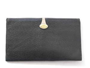 Gucci Large Black International Checkbook Wallet in Pigskin