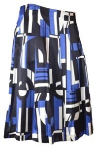 Ralph Lauren Pleated Geometric Modern Skirt Blue
