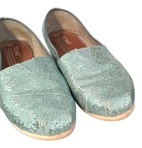 TOMS Sparkly Light Blue Flats