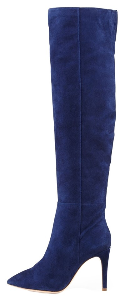 7a2dc46e9dae Joie sapphire olivia suede knee boots booties size us tradesy jpg 400x960  Sapphire high boots