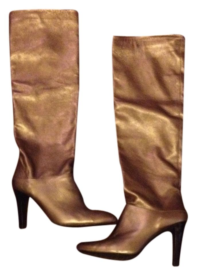 Stuart Weitzman Bronze Metallic Sable Crushable Sable Metallic Old Napa Boots/Booties b437ab