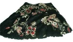 Ann Taylor LOFT Skirt Black/white/ pink