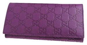 Gucci Purple Guccissima Leather Clutch Wallet w/Coin Pocket 305282 5526