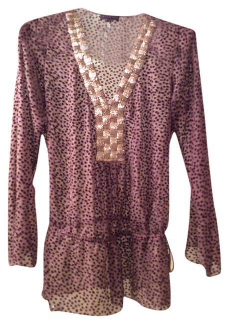 Preload https://item1.tradesy.com/images/hale-bob-cover-up-adjustable-tie-tunic-brown-with-silver-embellishments-1680715-0-0.jpg?width=400&height=650