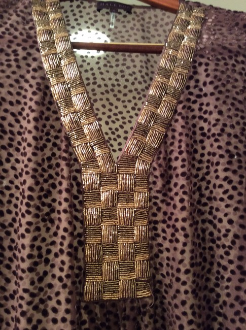 Hale Bob Cover Up Adjustable Tie Beaded Tunic