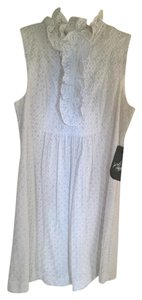 A.B.S. by Allen Schwartz short dress White Cotton Lace Fully Lined Sleeveless Never Worn! Tags Attached! on Tradesy