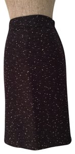 Kasper Tweed Lined Skirt Black and White