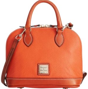 Dooney & Bourke Satchel in Tangerine