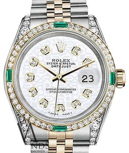 Rolex Women's Rolex Steel and Gold 31mm Datejust White Jubilee Diamond