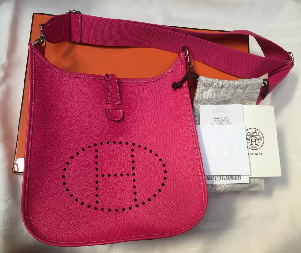 Cross Pm Rose Leather Evelyne Hermès Tyrien Body Epsom Iii Bag T0qxwx5
