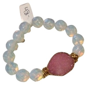 Other Gold Plated Pink Druzy Bracelet