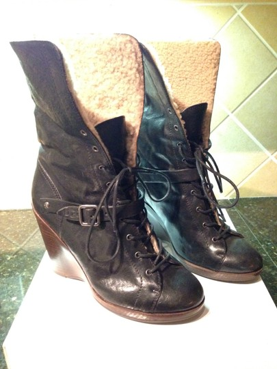 UGG Italian Collection Genuine Leather Black Boots