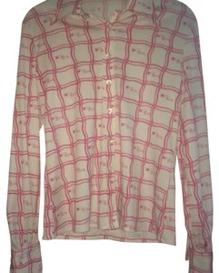 Nina Ricci Button Down Shirt Pink/ White