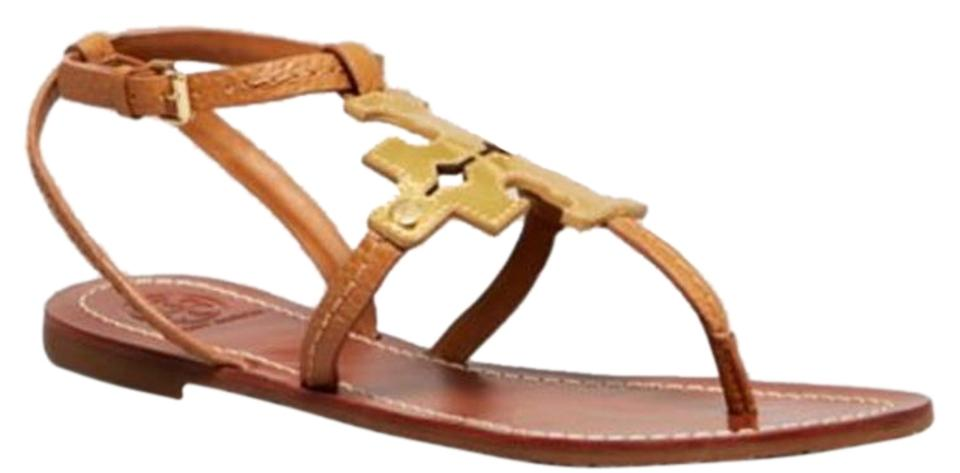 03bf2cea3 Tory Burch Tan   Gold Chandler Logo Sandals Size US 10 Regular (M