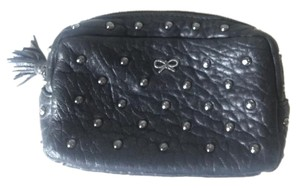 Anya Hindmarch Leather Cosmetic Pouch black Clutch