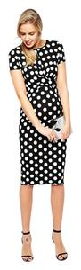 ASOS Black and white polka dot maternity dress