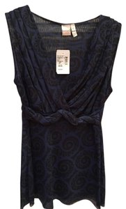 Sweet Pea by Stacy Frati Sleeveless Top Blue & Black