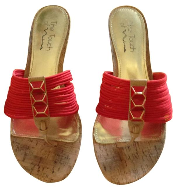 Item - Red Wedges Size US 8.5 Regular (M, B)