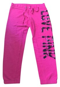 Victoria's Secret Pink Love Pink Sweatpants Sequins Relaxed Pants Fushia