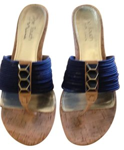 Touch of Nina Navy Blue Wedges
