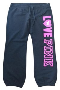 Victoria's Secret Love Pink Sweatpants Pink Relaxed Pants Black