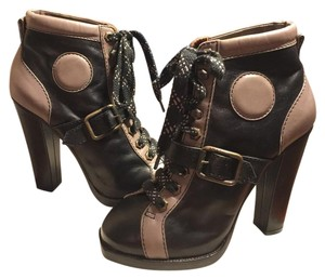 Marc Jacobs Black/ TAUPE/brass Boots