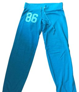 Victoria's Secret Pink Relaxed Pants Bright Blue